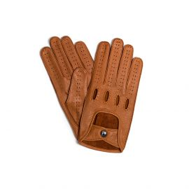Camel Leather Driving Gloves
