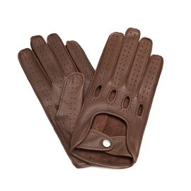 Chocolate Leather Driving Gloves