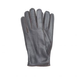 Dark Brown Deerskin Gloves
