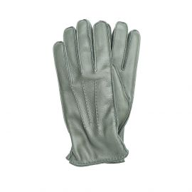 Dark Green Deerskin Gloves