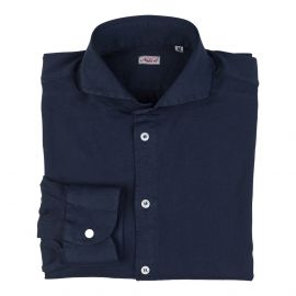 Navy Blue 100% Jersey Cotton Shirt