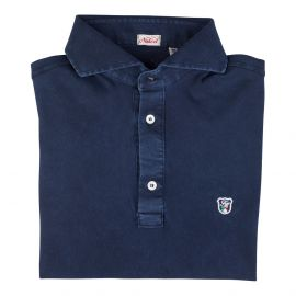 LIMITED EDITION Blue Piqué Cotton Polo Shirt