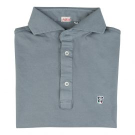 LIMITED EDITION Grey Piqué Cotton Polo Shirt