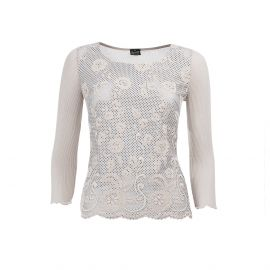 SOFT Sand Pure Filo di Scozia Cotton Long Sleeves Top