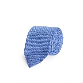 Blue and White Silk Tie