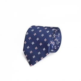 Blue with Flowers Silk Tie