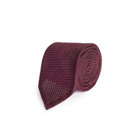 Burgundy Grenadine Silk Tie