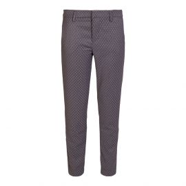 DONATELLA Grey with Rhombuses Chinos