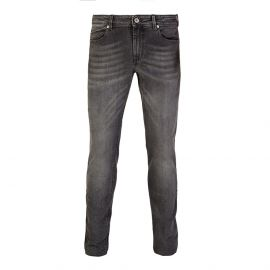 RUBENS Z Textured Grey Regular-Fit Jeans