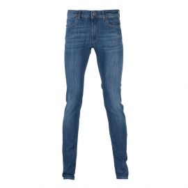 RUBENS Blue Washed Denim Regular-Fit Jeans