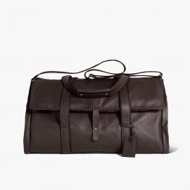 LUDOVICO MARABOTTO REGINALD Dark Brown Leather/Regimental Weekend Bag