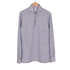 RIPA RIPA Capri Blue Broad Stripes Linen Shirt