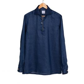 RIPA RIPA Capri Night Blue Linen Shirt