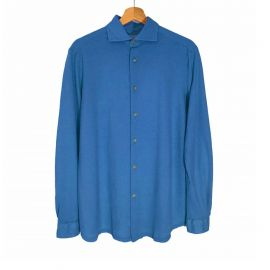 RIPA RIPA Favignana Blue Piqué Cotton Shirt