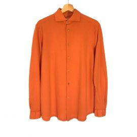 RIPA RIPA Favignana Rust Piqué Cotton Shirt