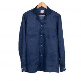 RIPA RIPA Ischia Night Blue Linen Shirt