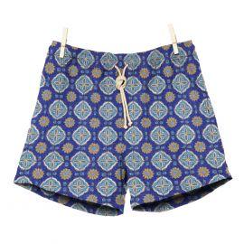 RIPA RIPA Maestrale Azure and Blue Printed Swim Shorts