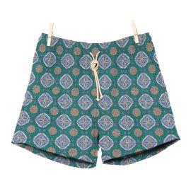 RIPA RIPA Maestrale Azure and Green Printed Swim Shorts