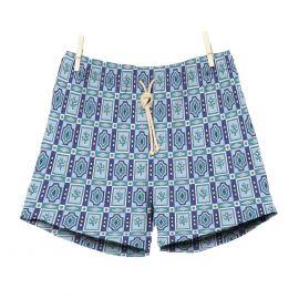 RIPA RIPA Tramontana Blue Printed Swim Shorts