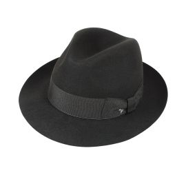 ROMA Black Fedora Hat