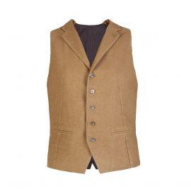 Camel Wool-Blend Waistcoat