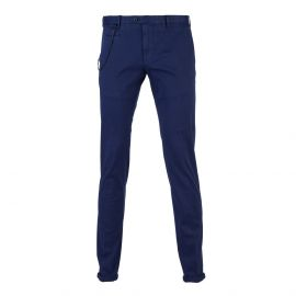 Midnight Blue Cotton Positano Trousers