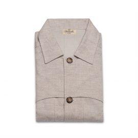 DINO Beige Flannel Saharian Jacket
