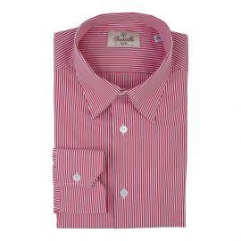 JUTLAND Red Stripes Popeline Radici Patrimonio 1970 Shirt