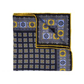 SERA' FINE SILK Blackberry Primitivo Silk Handkerchief