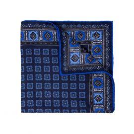 SERA' FINE SILK Blueberry Primitivo Silk Handkerchief