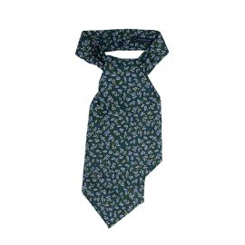 SERA' FINE SILK Green Paisley Silk Ascot