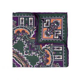 SERA' FINE SILK Green Pepper Barolo Silk Handkerchief