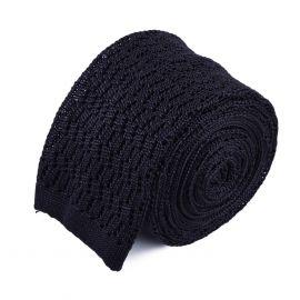 SERA' FINE SILK Knitted Zig Zag Fog Tie
