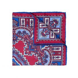 SERA' FINE SILK Wild Strawberry Barolo Silk Handkerchief