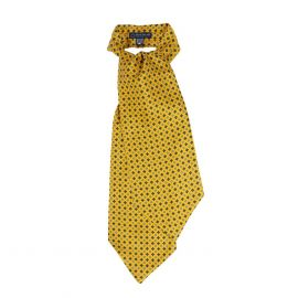 SERA' FINE SILK Yellow Pattern Silk Ascot