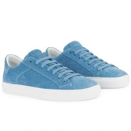 WHITE OCEAN Blue Low Top Sneakers