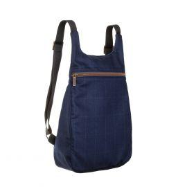 MANTICO Blue & Grey Checks Classy Zayno Backpack