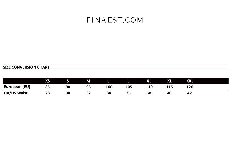 Finaest Belts Size Chart