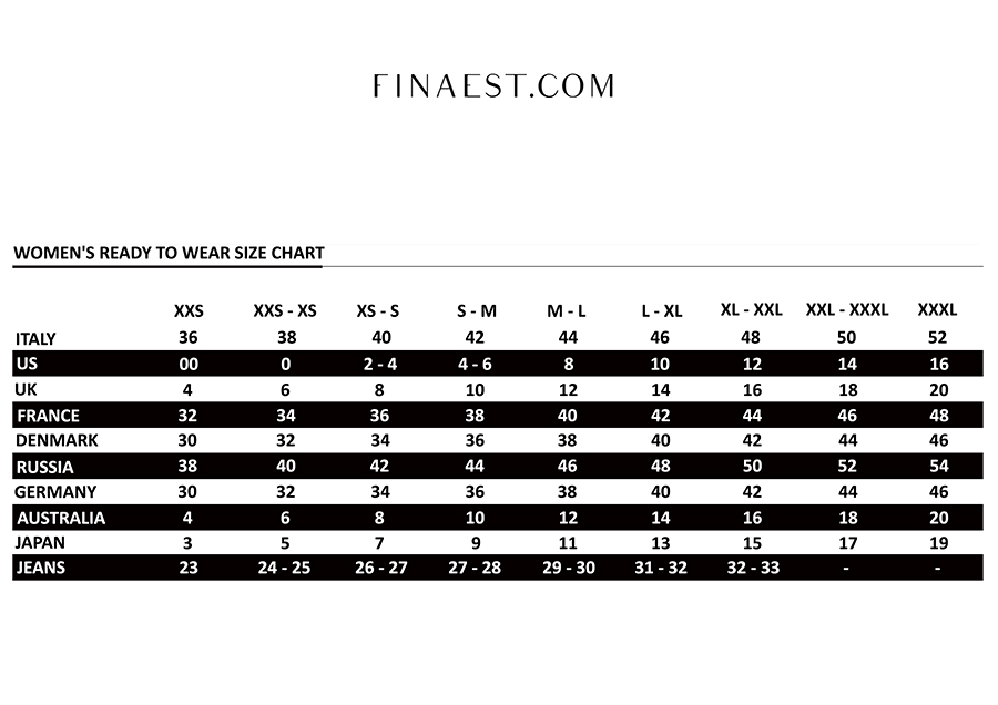 finaest-size-chart-women-ready-wear